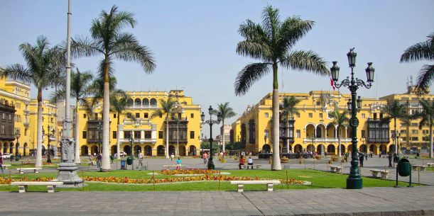 Plaza Mayor in Central Lima, Peru